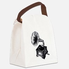Gramophone Canvas Lunch Bag