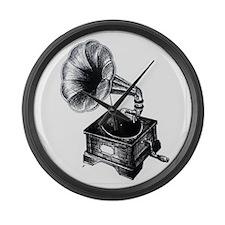 Gramophone Large Wall Clock