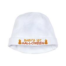 Babys 1st Halloween Pumpkin Chevron baby hat
