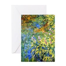 Monet - Irises 3 Greeting Card