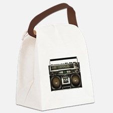 Vintage Boom Box Canvas Lunch Bag