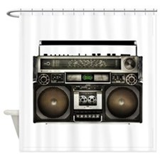 Vintage Boom Box Shower Curtain