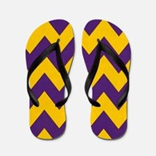 Purple and Gold che... Flip Flops