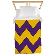 Purple and Gold che... Twin Duvet