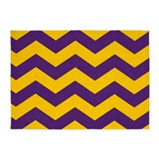Purple and Gold che... 5'x7'Area Rug