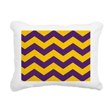 Purple and Gold che... Rectangular Canvas Pillow