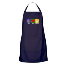 Peace Love Chihuahua Apron (dark)