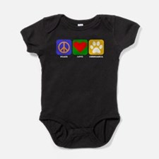 Peace Love Chihuahua Baby Bodysuit
