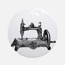 Vintage Sewing Machine Round Ornament