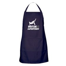 Super power wrestling designs Apron (dark)
