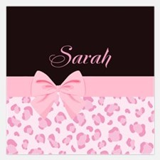 Girly Pink with Bow - Customized 5.25 x 5.25 Flat