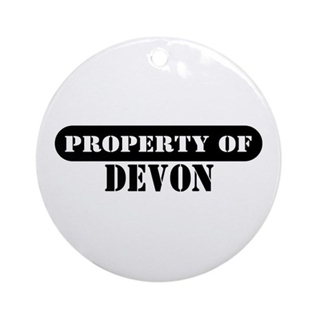 Property of Devon Ornament (Round)