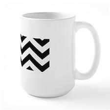 True Black and White Chevron Mugs