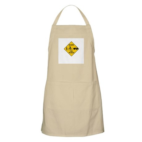 Road Sign Share BBQ Apron