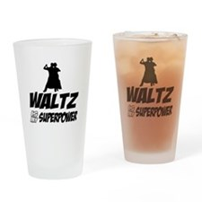 Super power wrestling designs Drinking Glass