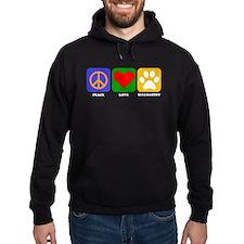 Peace Love Bullmastiff Hoody