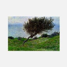 Monet - On the Coast of Trouville Rectangle Magnet