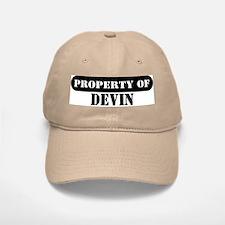 Property of Devin Baseball Baseball Cap