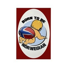 """""""Born to be Norwegian"""" Rectangle Magnet"""