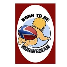 """""""Born to be Norwegian"""" Postcards (Package of 8)"""