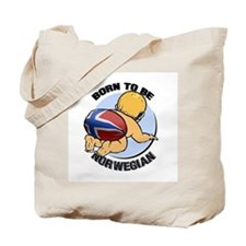 """Born to be Norwegian"" Tote Bag"