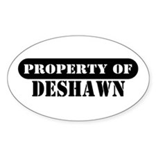 Property of Deshawn Oval Decal
