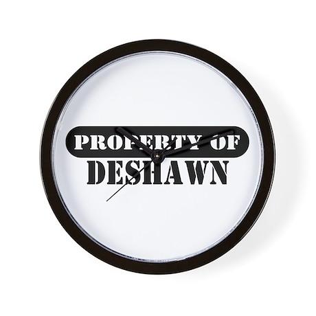 Property of Deshawn Wall Clock