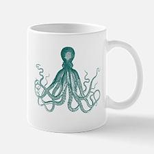 Dark Teal Octopus Mugs