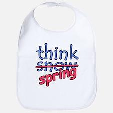 Think Snow Think Spring Bib