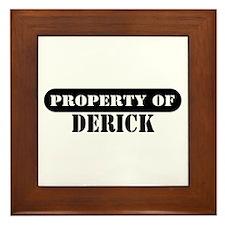 Property of Derick Framed Tile
