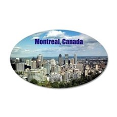 Montreal, Canada 35x21 Oval Wall Decal