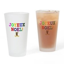 CHRISTMAS - JOYEUX NOEL - REINDEER! Drinking Glass