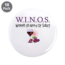 "W.I.N.O.S. Sanity 3.5"" Button (10 pack)"