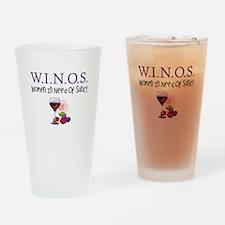 W.I.N.O.S. Sanity Drinking Glass