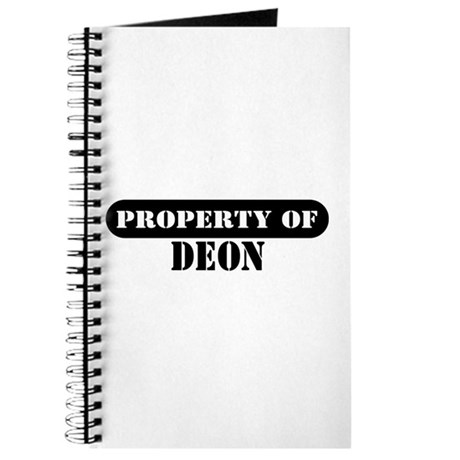 Property of Deon Journal