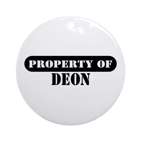 Property of Deon Ornament (Round)