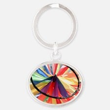 Wind Wheel Oval Keychain