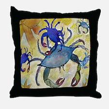 Sandy Crab Throw Pillow