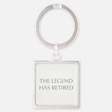 LEGEND-HAS-RETIRED-OPT-GRAY Keychains