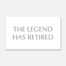 LEGEND-HAS-RETIRED-OPT-GRAY Rectangle Car Magnet