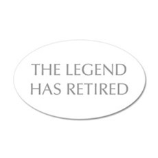 LEGEND-HAS-RETIRED-OPT-GRAY Wall Decal
