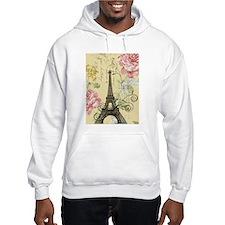 floral paris eiffel tower Hoodie