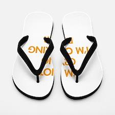 Im-not-crying-FUT-ORANGE Flip Flops