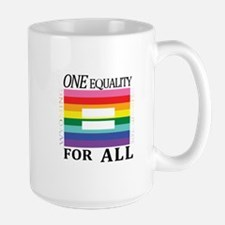 Wyoming one equality blk font Mugs