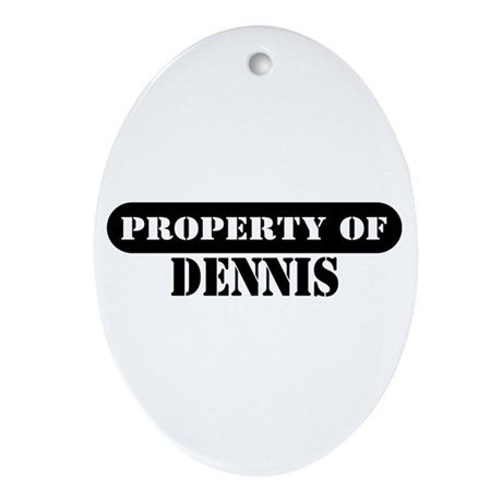 Property of Dennis Oval Ornament