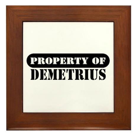 Property of Demetrius Framed Tile
