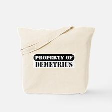 Property of Demetrius Tote Bag