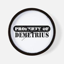 Property of Demetrius Wall Clock