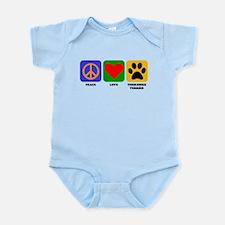 Peace Love Yorkshire Terrier Body Suit