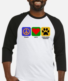 Peace Love Yorkshire Terrier Baseball Jersey
